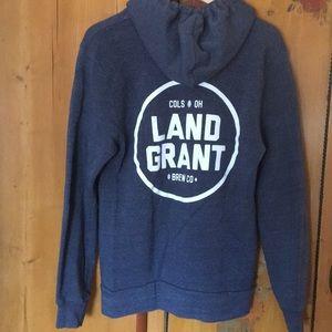 Land Grant Brewing Company Zip Hoodie Sweatshirt L