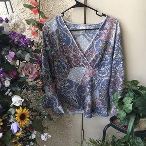 Flowy bohemian paisley blouse
