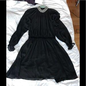 ASOS embellished jeweled neck dress