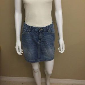 Old Navy Blue Jean Mini Skirt Size 10