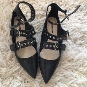 Blogger Zara Flats | Triple Buckle