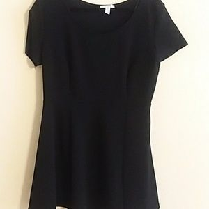 Plus Black Skater Dress