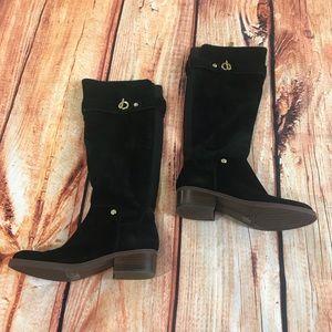 Tommy Hilfiger black knee high boots