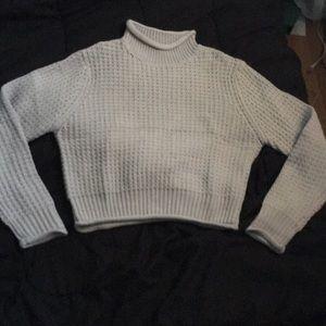 Semi-Cropped Grey Sweater