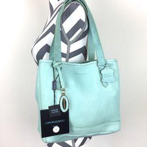 NWT Cynthia Rowley Aquamarine Leather Purse