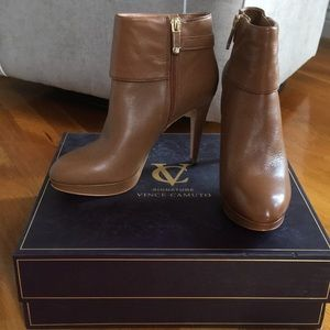 Vince Camuto Signature Camel Booties