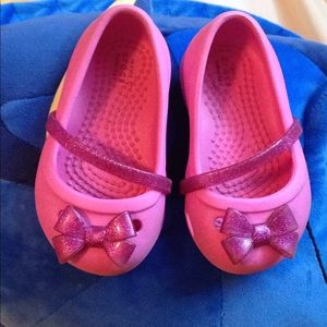 Other - Baby girl shoes crocs