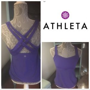 Purple Athleta Workout Top