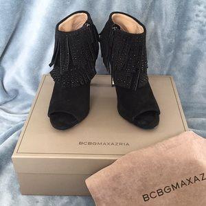 BCBGMAXAZRIA Raimi black suede booties