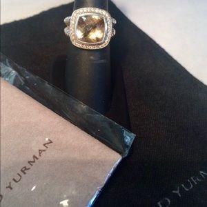 DAVID YURMAN Champagne Citrine Pave Diamond Albion