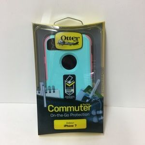 Other - Teal/Pink Apple iPhone 7 Otterbox Commuter