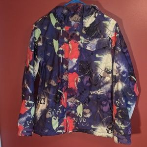 Volcom purlple snowboard jacket shell