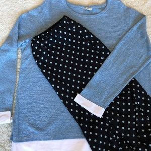 Talbots Light Blue Sweater With Layered Look