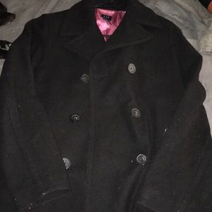 Gap pea coat black