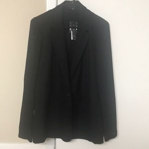 Theory Shatrice Blazer sheer back and sleeves