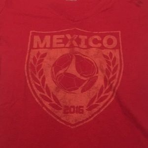 Red T-shirt with Mexican 2016 soccer logo