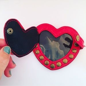 Betseyville Leather Heart Studded Luggage Tag