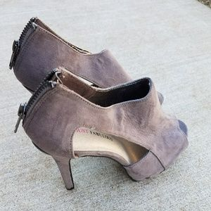 Gray Summer Booties