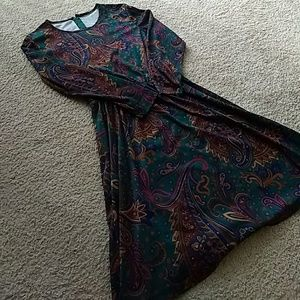 Vintage polyester paisley dress