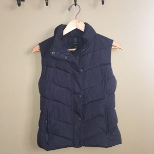 Gap Winter Warmth Navy Dot Puffer Vest