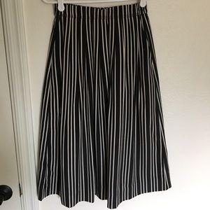J.Crew front plead stripped skirt