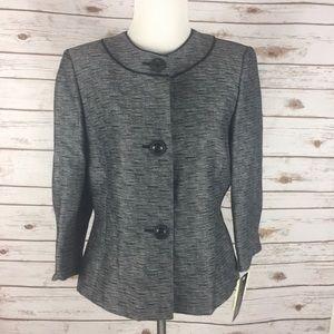 🆕 Jones New York Black, Grey & White Blazer