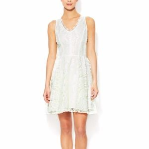 DV by Dolce Vita White Thereza Lace Flare Dress