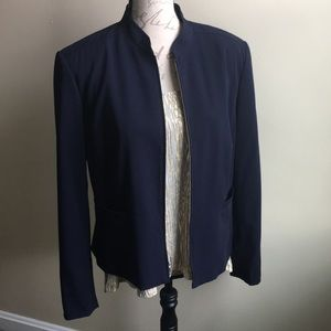 Worthington Works Stretch Blazer Size 14 Zip Up