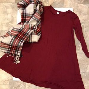 NWT! Never worn! Maroon swing dress