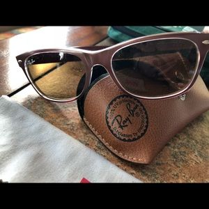 Gently used authentic ray ban bronze sunglasses