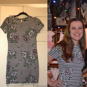 French Connection striped tshirt dress