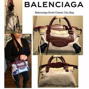 Balenciaga Multi Leather Small City Bag w/ Duster
