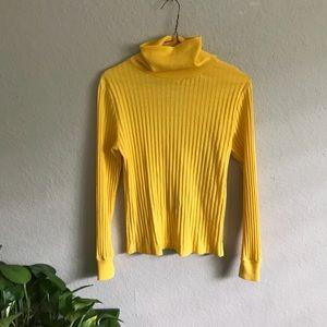 vintage yellow turtleneck