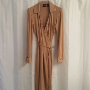 INC Suede Like Wrap Dress