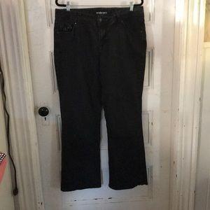 Embellished 5 pocket Bootcut black jeans