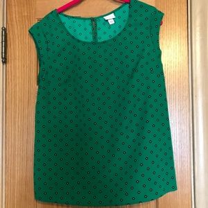 Merona Green Cap Sleeve Blouse
