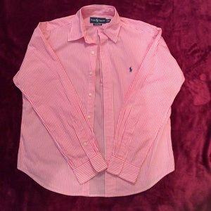 Men Striped Button Down Shirt