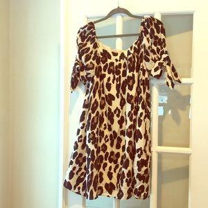 c7770c600a4b6 Nanette Lepore Dresses - Nanette Lepore 100% silk leopard print party dress
