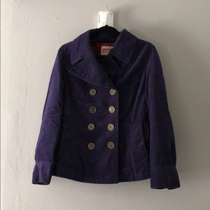 Double-breasted pea coat with pockets
