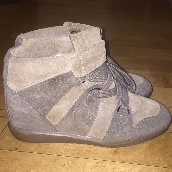 7681d2cfca20 Isabel Marant 'Bobby Wedge' sneakers  taupe green.