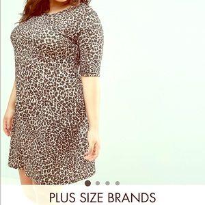 Plus Size Leopard Dress.