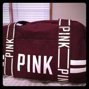 "Victoria's Secret ""Pink"" carry on duffle bag"