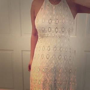 Zara crochet halter maxi dress