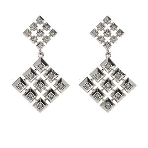 House of Harlow 1960 silver drop earrings