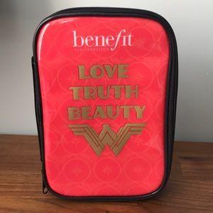 NIB Benefit Wonder Woman Cosmetic Bag