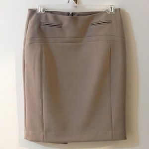 Tan Express pencil skirt