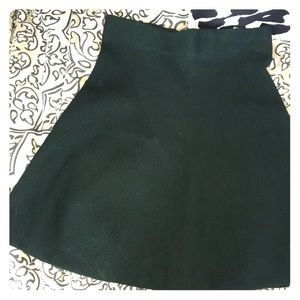 Hunter green skirt