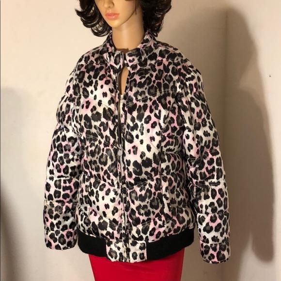 0356437ac11a Justice Jackets & Coats   1618 Cheetah Print Puffer Jacket   Poshmark