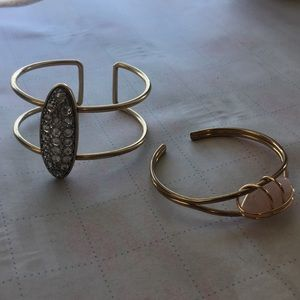 Jewelry - 2 adjustable cuff bracelets.