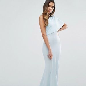 Club L One Shoulder Detailed Crepe Maxi Dress